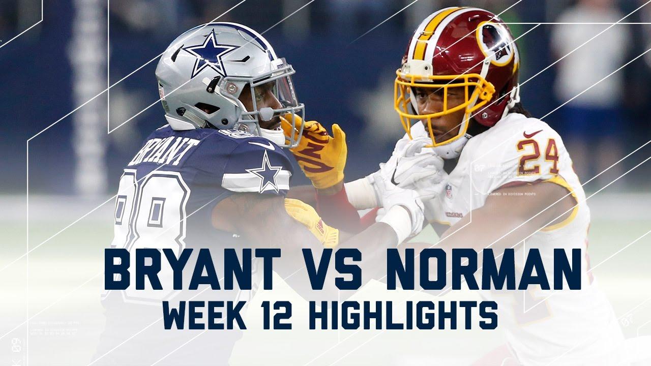 Dez Bryant Vs Josh Norman Thanksgiving Day Redskins Vs Cowboys Nfl Week 12 Player Highlights