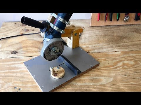 Making a Homemade Angle Grinder Stand - El...