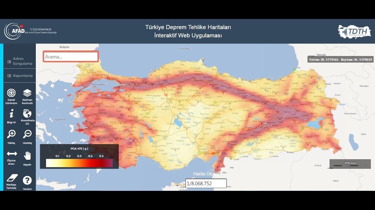 TBDY 2018'e Göre AFAD Deprem Tehlike Haritası Nasıl Kullanılır?