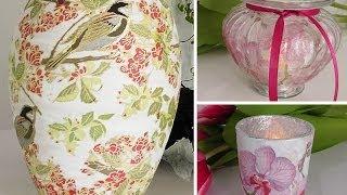 DIY: Vasen und Gläser mit Serviettentechnik als Frühlings-Deko selber machen | Deko Kitchen
