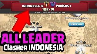 Kekuatan ALL Leader COC INDO Kalahkan Top Clan, PAMSUS Selalu Serentak, Live attack Paket Hog