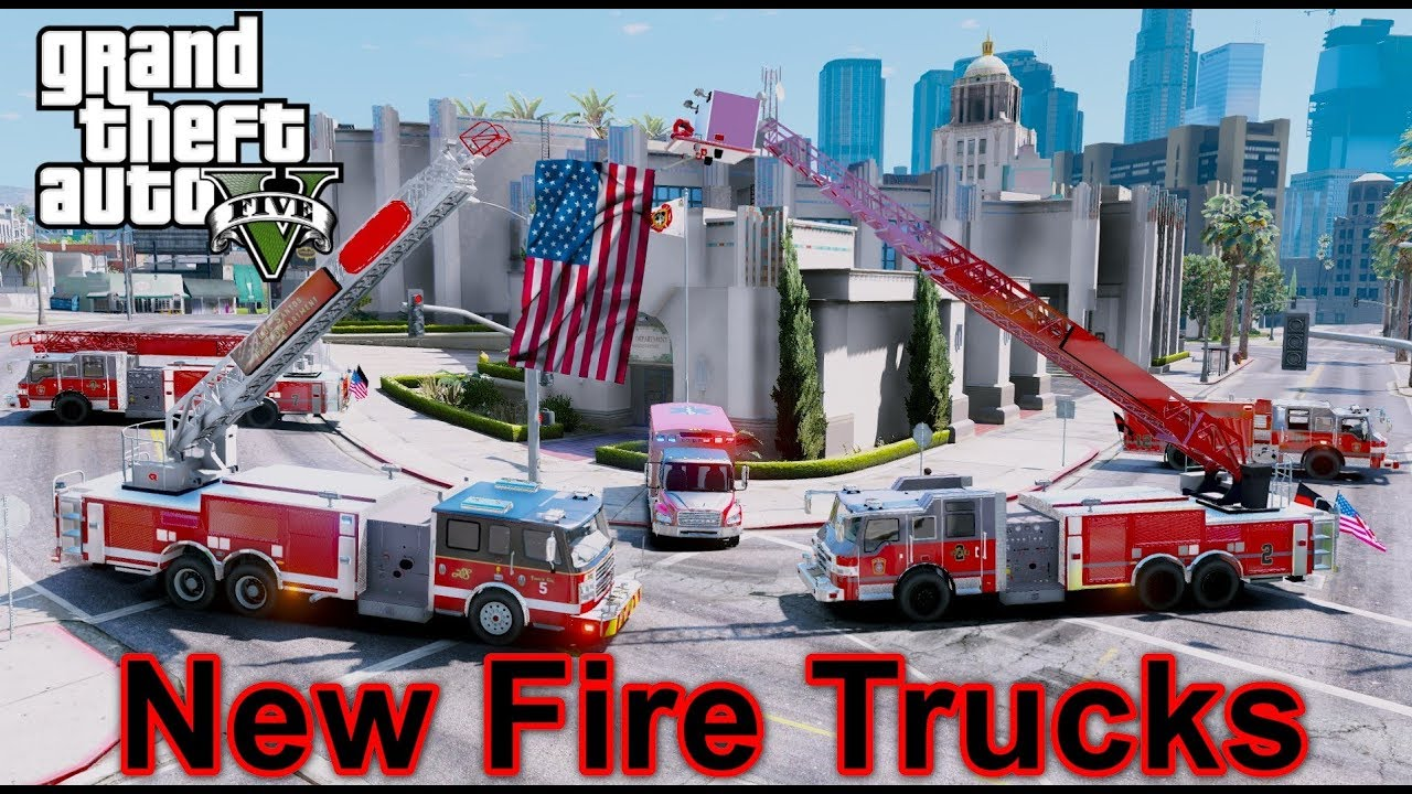 GTA 5 Firefighter Mod - Chief Inspecting The New Fire Trucks