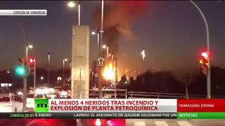 Fuerte explosión e incendio en un polígono petroquímico de Tarragona