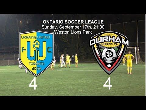 FC Ukraine United  vs  Durham United FA 4-4. Review