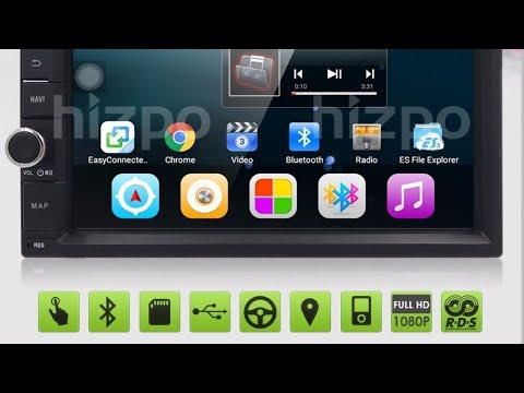 Android 6 RADIO generic 7 inch screen for cars - hizpo - YouTube