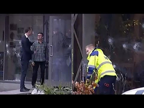 Watch: Aftermath of Copenhagen cafe shooting
