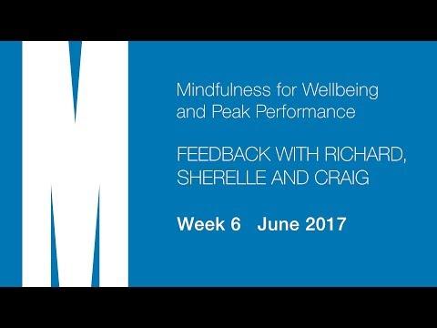 Feedback from Richard, Sherelle and Craig - Week 6 - June 2017
