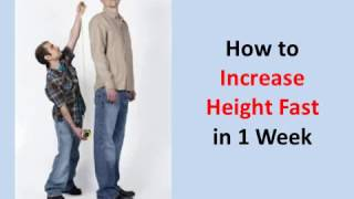 How to Increase Height Fast in 1 Week (Guaranteed!)