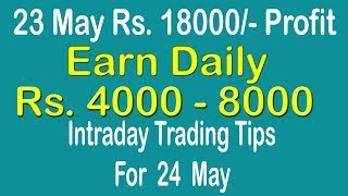 Intraday Trading Tips for 24 May 2019 | intraday trading strategies | Free Intraday Tips