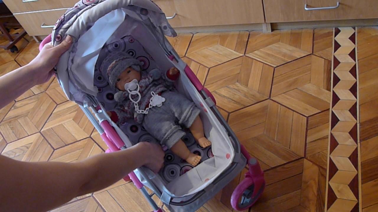 Ретро кукла и необычная красивая коляска для кукол из 90-хх - YouTube