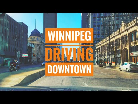 Driving  Downtown - Winnipeg, MB, Canada