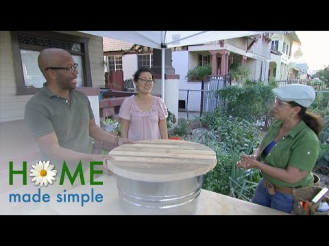 Galvanized Tub Coffee Table: A Charming Outdoor Addition | Home Made Simple | Oprah Winfrey Network