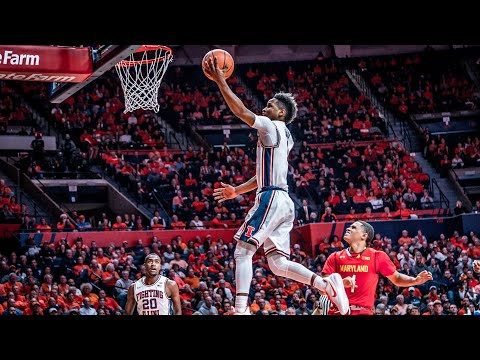 Illinois Men's Basketball Highlights vs Maryland 12/3/17