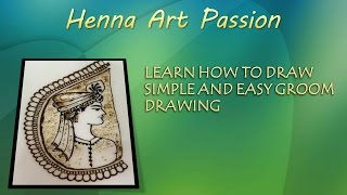 learn how to draw simple and easy groom/dulha with mehendi :only side face