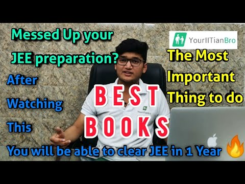 Study Plan: Prepare for JEE in 1 Year! | Best Books 🔥