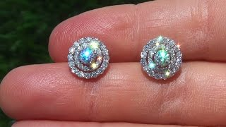 CERTIFIED VS Natural Diamond Stud Cocktail Earrings Solid 18k White Gold eBay Auction - A141036