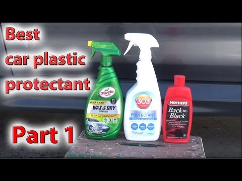Best product for plastic on cars - Turtle Wax vs 303 vs Back to Black comparison