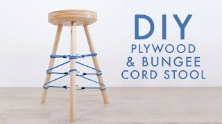 DIY Plywood & Bungee Cord Stool | Modern Builds