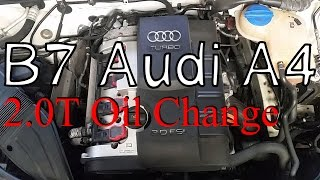 b7 audi a4 2 0t oil change