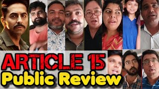 Article 15 (2019) Public Review Hindi Movie| Ayushmann Khurrana is it Based on Shocking True Events?