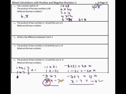 Directed Numbers - working with negative numbers , Algebra basics