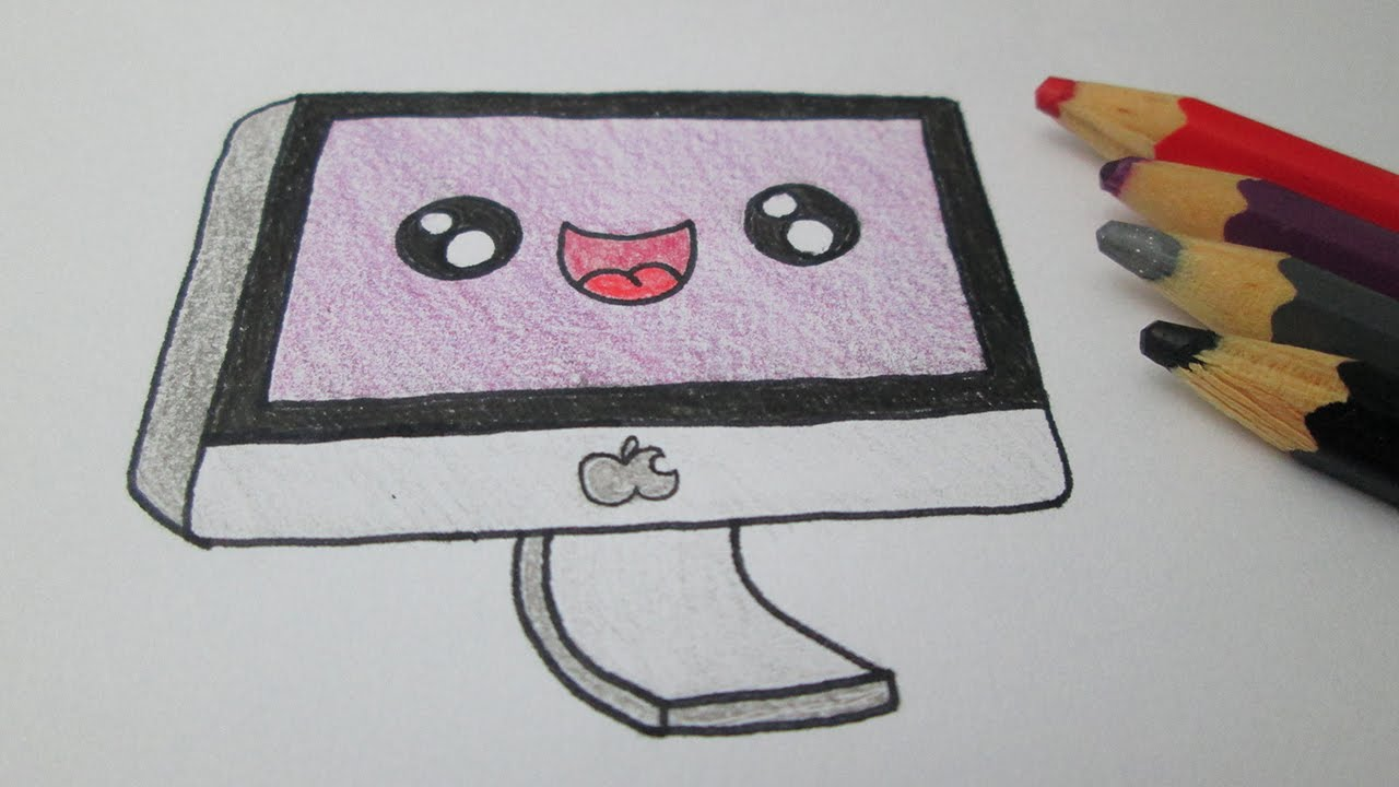 How To Draw A Mac Computer Apple Youtube