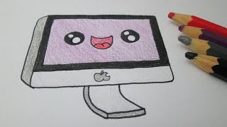 How to draw a Mac computer Apple