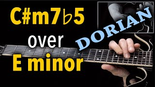 Minor7b5 over Minor = Dorian Trick You Should Know