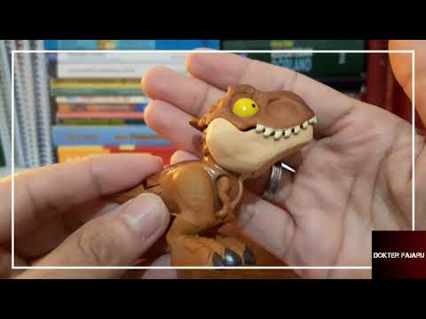 #6 Review Mainan Viral figure Jurassic world snap squad mini dinosaurus alfamart booming indonesia
