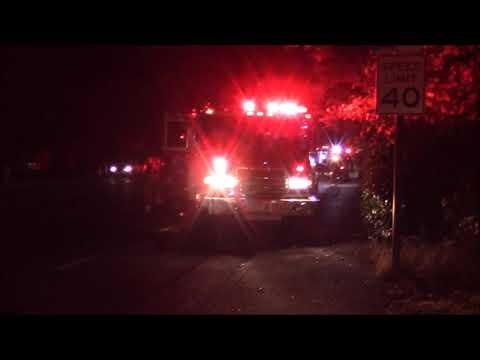 Pre Arrival: Motorcycle Accident - SMFD Engine & Medic 109 & SCSD K-9 Unit Responding & On Scene