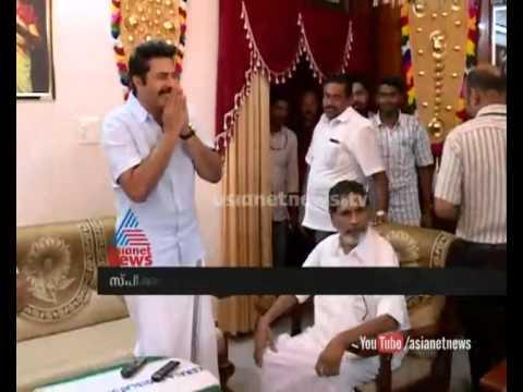 Mammootty visits  speaker G Karthikeyan