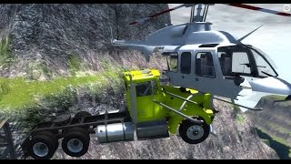 BeamNG.drive - Big Rig vs Helicopter