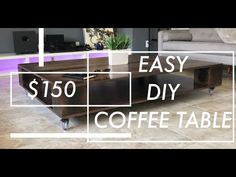 plywood-coffee-table-with-casters!!!-🔴