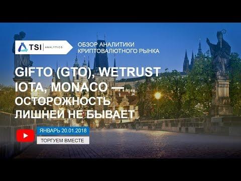 Gifto (GTO), WeTrust, IOTA, MONACO — осторожность лишней не бывает | Прогноз Криптовалют