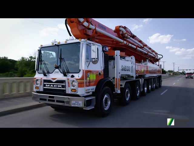 The truck-mounted concrete pump S 65 SXF. The movie.