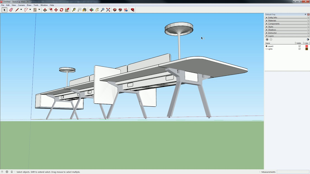 52 Sketchup 3d Warehouse And Basic Editing For Lights Youtube