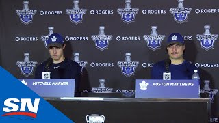 Auston Matthews And Mitch Marner Frustrated By Maple Leafs' Loss To Blue Jackets