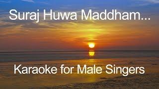 Download lagu 🎼 Suraj Huwa Maddham 🎼 KKKG (2001) 🎼 Karaoke for Male Singers 🎤