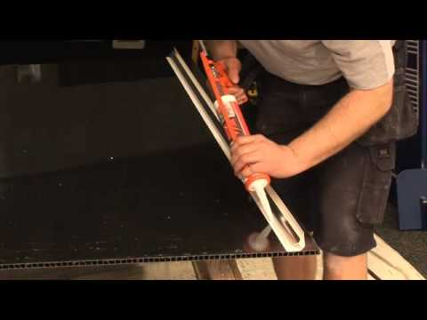 PVC Shower Wall Cladding installation - YouTube