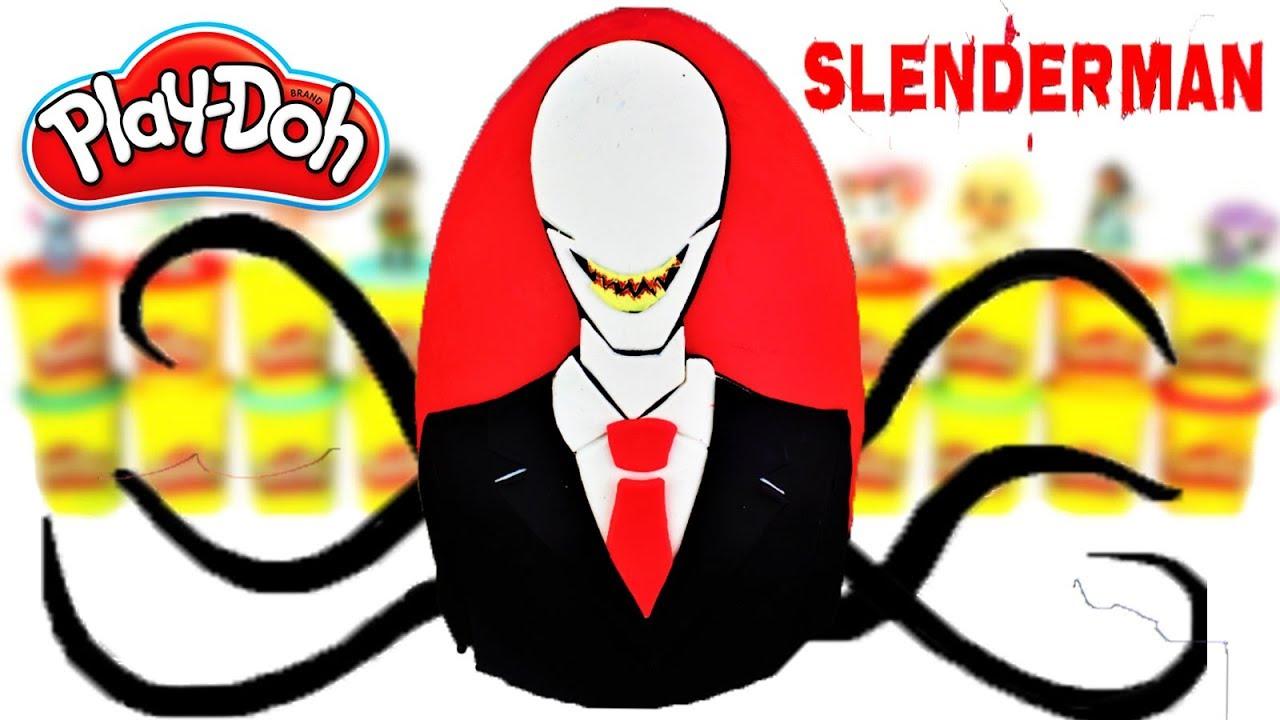 Huevo Sorpresa Gigante de Slenderman de Plastilina Play doh en Español Creepypasta