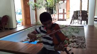 anuragathin velayil in violin, Thattathin marayathu
