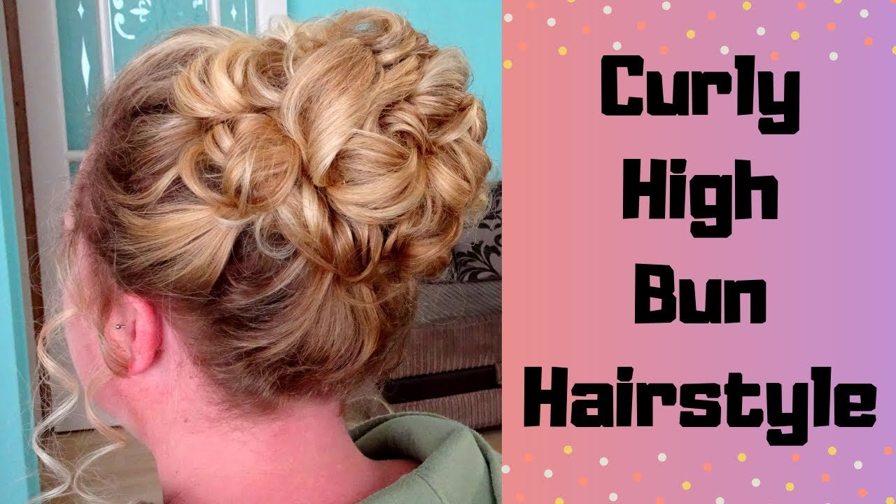 how to do a high curly bun hairstyle - classic bridal updo prom tutorial