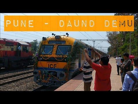 PUNE - DAUND DEMU Inaugural Special | Full Journey : HADAPSAR - DAUND - PUNE