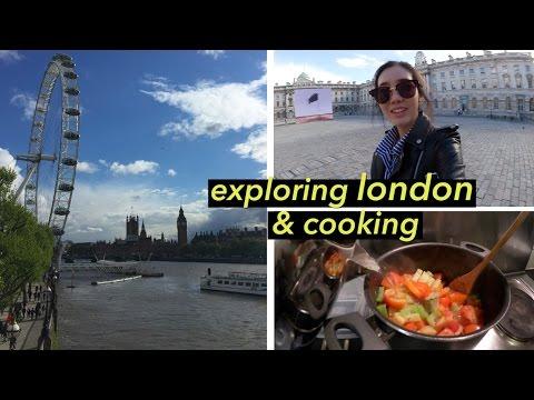 Exploring London, Cooking Veggie Soup, & Tasting British Snacks