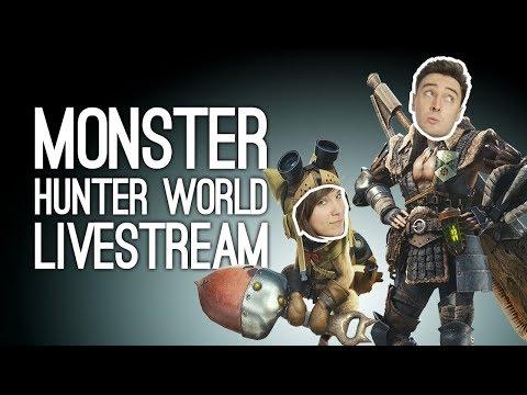 MONSTER HUNTER WORLD LIVESTREAM! Outside Xtra Plays Monster Hunter World Co-Op, LIVE @ Loading Bar thumbnail