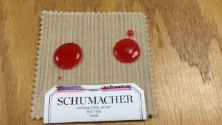 Fiber Protecter on Schumacher fabric