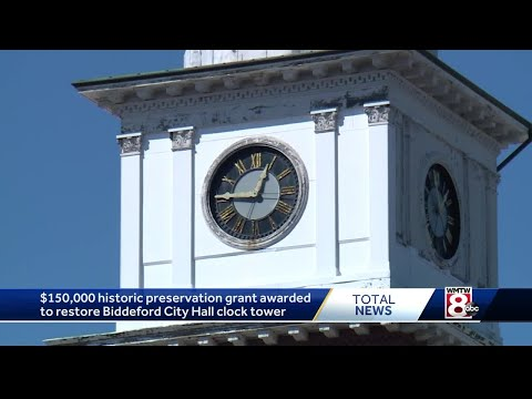 Biddeford wins national competition to restore historic City Hall clock tower