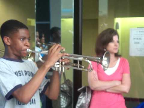 """Moss Point High School Band @ Pep Rally playing """"Get Ready"""""""