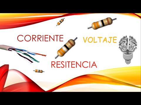 voltaje corriente y resistencia