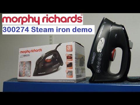 Morphy Richards 300274 Steam Iron Demonstration